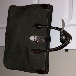 Army green and brown Dooney & Bourke